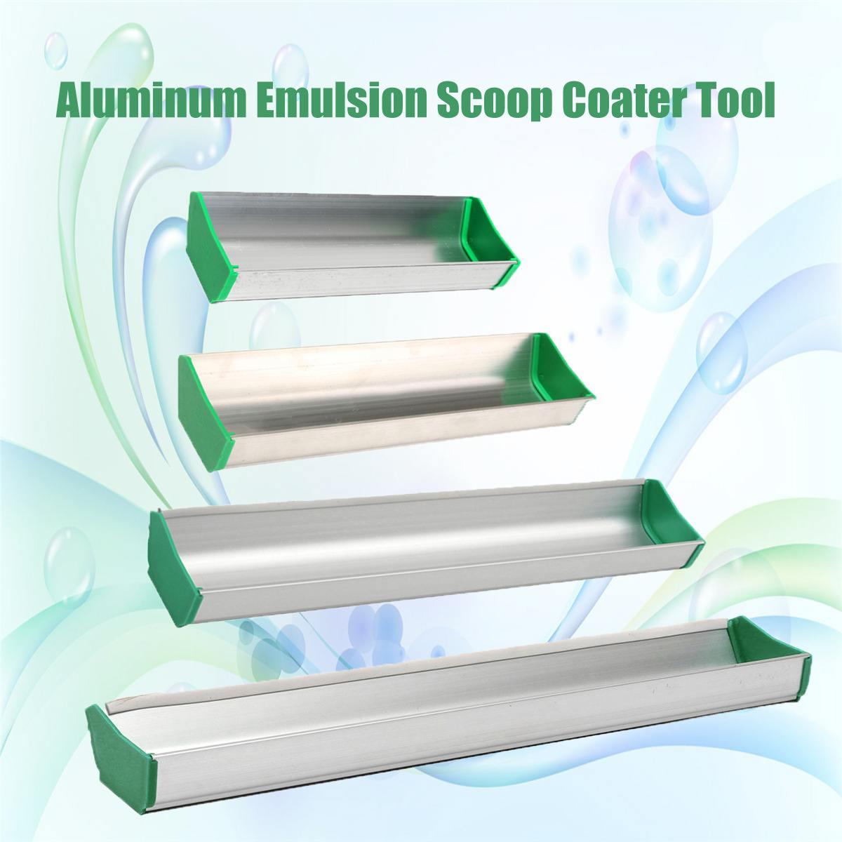 New 8/10/14/16inch Emulsion Scoop Coater Silk Screen Printing Aluminum Screen Printing Coating Tool