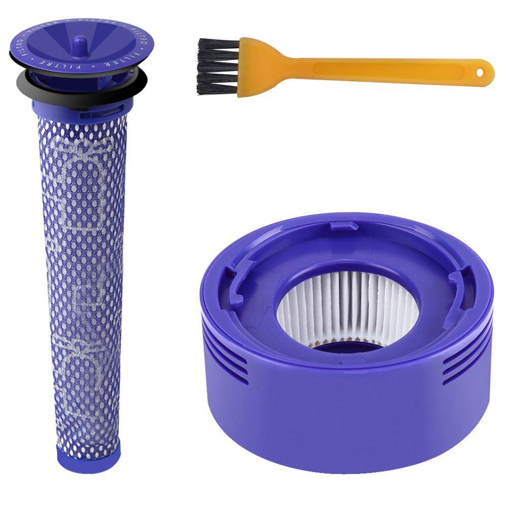 Post & Pre Motor HEPA Filters Replacement for Dyson V8 and V7 Cordless Vacuum Cleaners 2pcs dyson dc41 post motor hepa filter replacement for dyson dc41 dc65 cyclone vacuum cleaners replace part 920769 01
