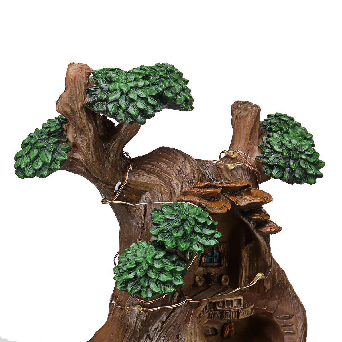 LED 植物の花の植物多肉植物 Diy のコンテナと装飾ミニ妖精の庭の家の装飾