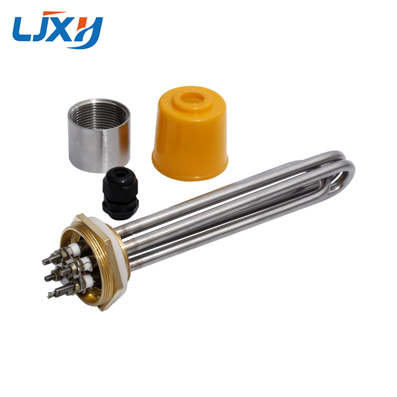 LJXH DN32 Electric Water Heater Heating Element With Interal Nut 220V/380V 304SUS Tube Copper Thread 3KW/4.5KW/6KW/9KW/12KW