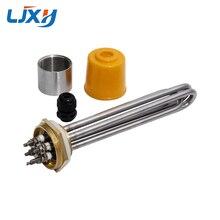 LJXH DN32 elektrikli SU ISITICI ısıtma elemanı dahili somun 220 V/380 V 304SUS tüp bakır iplik 3KW/ 4.5KW/6KW/9KW/12KW