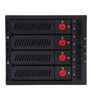 Image 3 - Oimaster 4 Bay Festplatte Gehäuse Rack Daten Lagerung Für 2,5 Zoll/3,5 Zoll Sata Sdd Festplatte Für 5,25 zoll Stick Bay