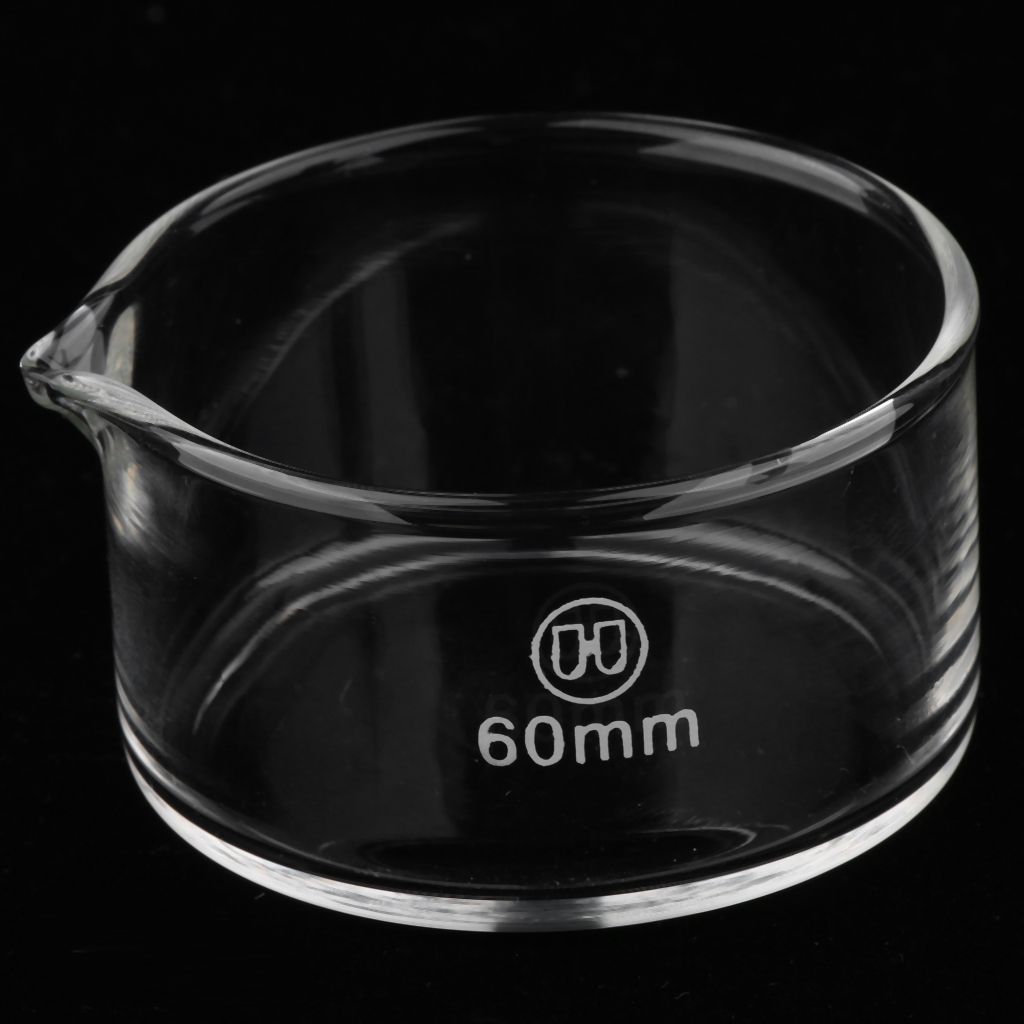 60mm Reusable Glass Crystallizing Dishes, Borosilicate, Reusable And Perfect For Storage And Crystallization