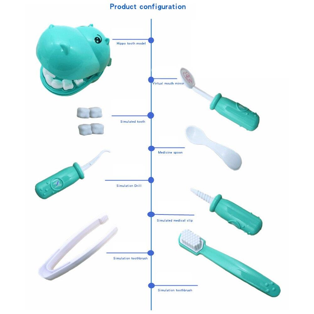 Играть игрушки Doctor'S Toy Set игрушечные гиппопотамы пластик 9 шт./компл. практика DIY Multi-function забавная игрушка в подарок коробка зубы Игры развивающие