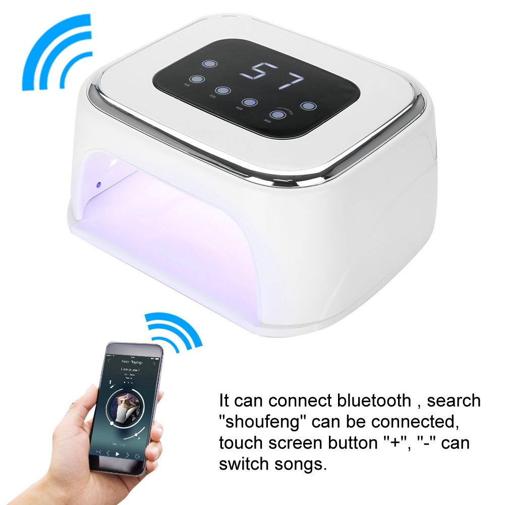 86W UV LED Nail Lamp Nail Dryer Intelligent Infrared Sensing Bluetooth with Speaker for Nail Gel