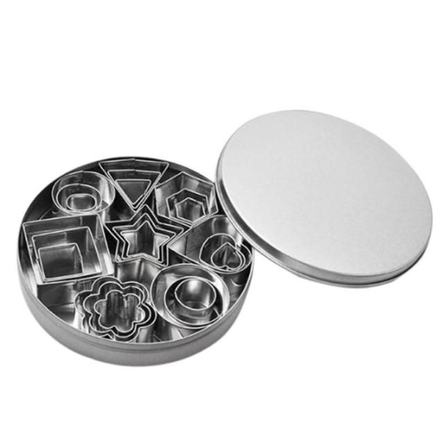 24pcs Stainless Steel Mini Cookie Cutter Set 3