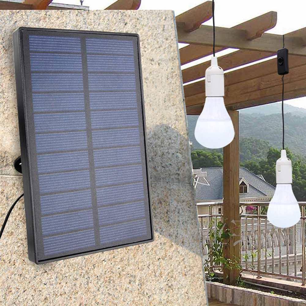 Solar Panel LED Bulbs Kit for Ourdoor Garden Camping Hiking Emergency Home Light SystemSolar Panel LED Bulbs Kit for Ourdoor Garden Camping Hiking Emergency Home Light System