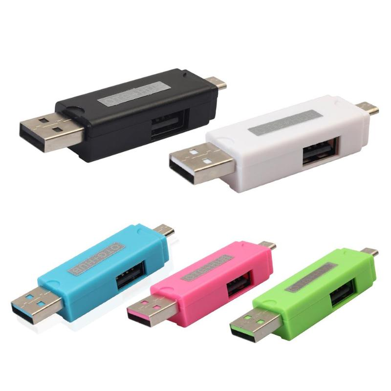 Micro USB TF Card Reader OTG Adapter USB2.0 Hub Connector for PC Smartphone