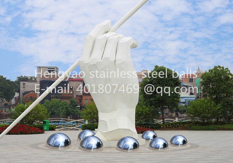 Gümüş Dia 100mm 10cm 304 paslanmayan polad içi boş - Ev dekoru - Fotoqrafiya 4