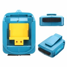 USB Charging Adapter Power Connector 5V 2A for Makita BL1830 BL1430 Blue 2 Ports