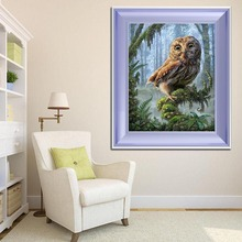 GOLDEN PANNO Cross Stitch 5D Diy Diamond Embroidery Needlework11ct14ct Promotional Show Broderie Diamant owl  02 цена