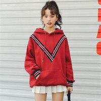 Autumn Winter Korean Ulzzang Long Sleeved Print Pullovers Hoodies Women Kawaii Sweatshirt Ladies Oversized Tracksuit Streetwear