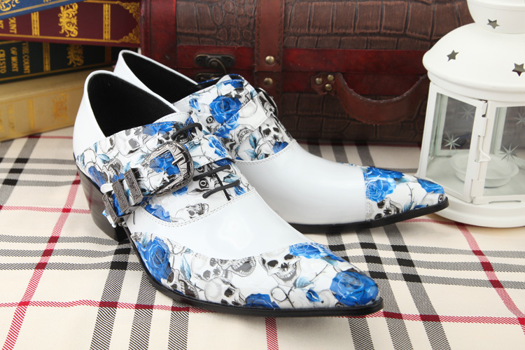 Intellective 2018 Floral Genuine Leather Alligator Shoes For Men Pointed Toe Dress Wedding Crocodile Skin Shoes Italian Formal Loafer Oxfords Formal Shoes