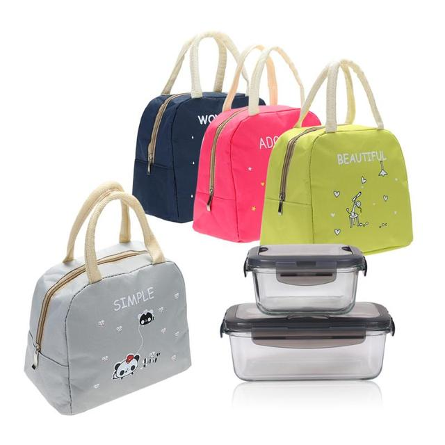 Portable Canvas Lunch Bag Thermal Food Picnic Lunch Bags for Women Female  kids Men Cooler Lunch 9753c17e871c