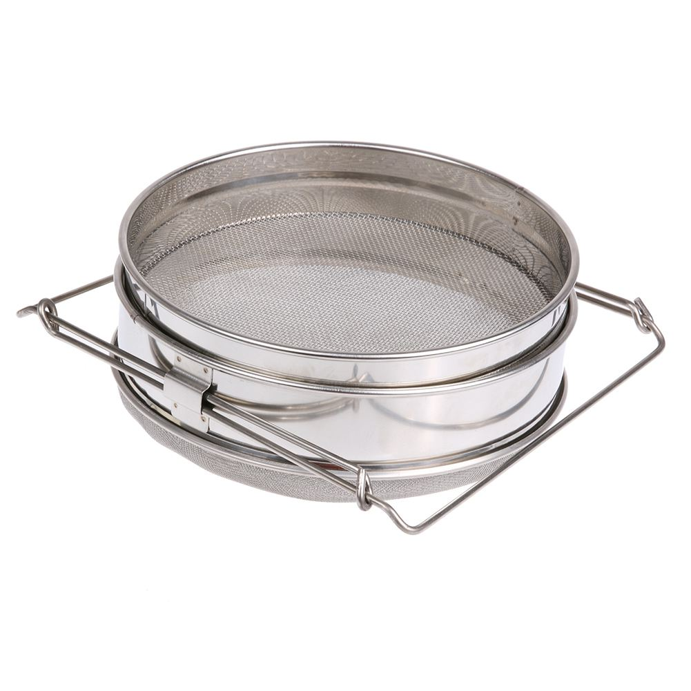 Stainless Steel Honey Filters Strainer Network Stainless Steel Screen Mesh Filter Beekeeping Tools Honey Tools 24.5cm