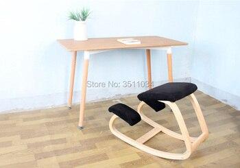 цена на Original Ergonomic Kneeling Chair Stool Ergonomic Rocking Wooden Kneeling Computer Posture Chair Design Home Office Furniture