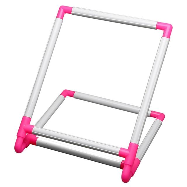 Ramka do haftu praktyczny uniwersalny klip plastikowy krzyż tamborek stojak wspornik do uchwytu Rack Diy Craft ręczne narzędzie