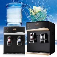 Protable 220V Electric Drinking Cooler Table Top Household Mini Cold Hot Drink Machine Desktop Automatic Water Dispenser 550W
