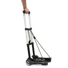 40 кг Складная прочная переносная двухколесная Рабочая тележка для багажа дорожные тележки с бортовым прицепом тележка курган