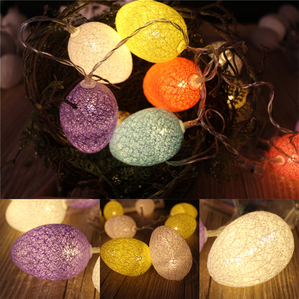 1.8m 10led 3 Color Egg String Light Chicken Lamp Balcony Bedroom Garland Home Easter Decoration For Party Led Lamp Light Beautiful In Colour Lights & Lighting