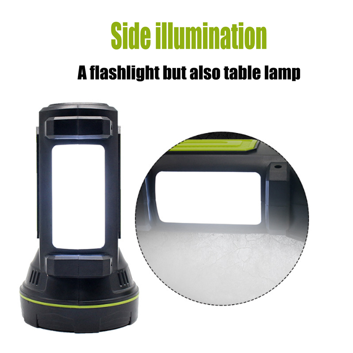 LED Portable Spotlight Lantern Searchlight Rechargeable Handheld High Power Portable Light for Outdoor Camping