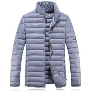 Image 5 - Chaqueta de invierno de talla grande 7xl para hombre, prendas de vestir acolchadas, 10xl Plus 5XL 6XL 8XL 9XL, Parka, sobretodo de plumón