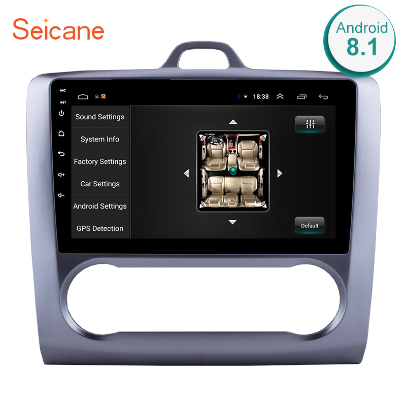 Seicane 2 DIN 8,1 дюймов Android 10,1 gps навигационный сенсорный экран четырехъядерный автомобильный Радио Для 2011 2006 2005-2004 Ford Focus Exi AT