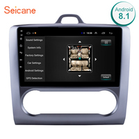 Seicane 2 DIN 9 Inch Android 8.1 GPS Navigation Touchscreen Quad core Car Radio For 2004 2005 2006 2011 Ford Focus Exi AT