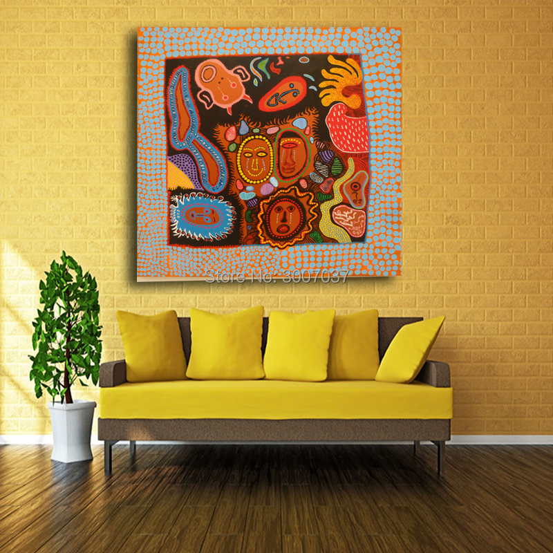 Yayoi Kusama red face Abstract picture of Wall Painting Home Decorative Art on Canvas Hand Painted Oil Painting wall painting in Painting Calligraphy from Home Garden