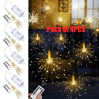 4Pack IP65 Waterproof Remote control LED String light Battery operated LED string light Copper Wire LED Fairy light D25