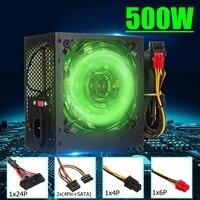 Max 500W Power Supply 120mm LED Fan 24 Pin PCI SATA ATX 12V PC Computer Power Supply for Desktop