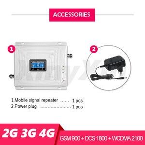 Image 4 - Gsm リピータ 2 グラム 3 グラム 4 グラム信号ブースターセルラーアンプ gsm 900 lte 1800 umts 2100 トライバンド携帯携帯電話携帯ブースター