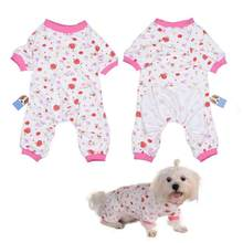 Cotton Jumpsuits Pink Apparel for Pet Dog(China)