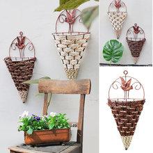 94f8afffcb3 Mûr Simples Fleur Panier Durable Intérieur Balcon Fer Pastorale Simulation  Décoratif Maison Vase(China)