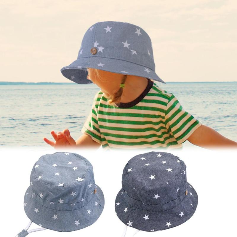 Bucket Sun Hat 100/% Cotton Newborn Baby Toddler Infant Boys and Girls in 3 sizes