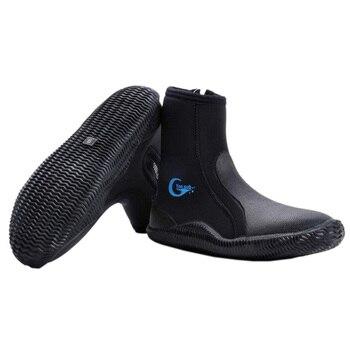 On Sub neopreno zapatos de buceo alto superior antideslizante botas de buceo mantener caliente zapatos de natación pesca invierno aletas de natación acceso