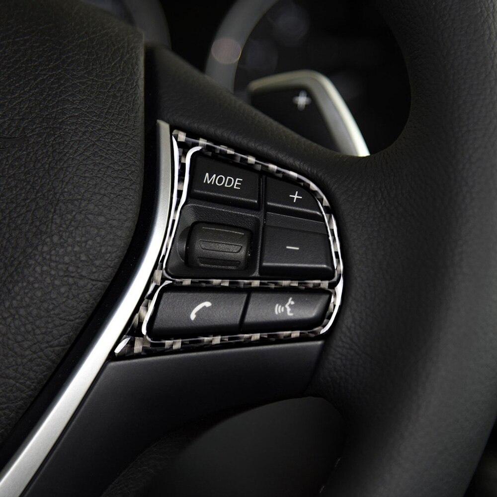 Carbon Fiber Multimedia Button Frame Trim Fit For BMW Car Universal