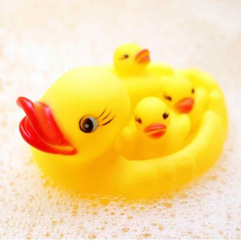 4 piezas de juguetes educativos para el desarrollo del baño del bebé, agua de ducha, flotante, patos de goma, juguetes de baño para niños, regalo de Navidad
