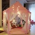 140x135 см большой Замок принцессы Тюль детский дом игра продажа Игровая палатка юрта креативный развивающий открытый Крытый гирлянда игрушки