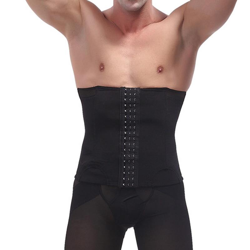 Men Buckle Adjustable Corset Shrink Waist Cincher Shapewear, Men's Slimming Belt Belly Waist Trimmer Sports Gym Shaper Underwear