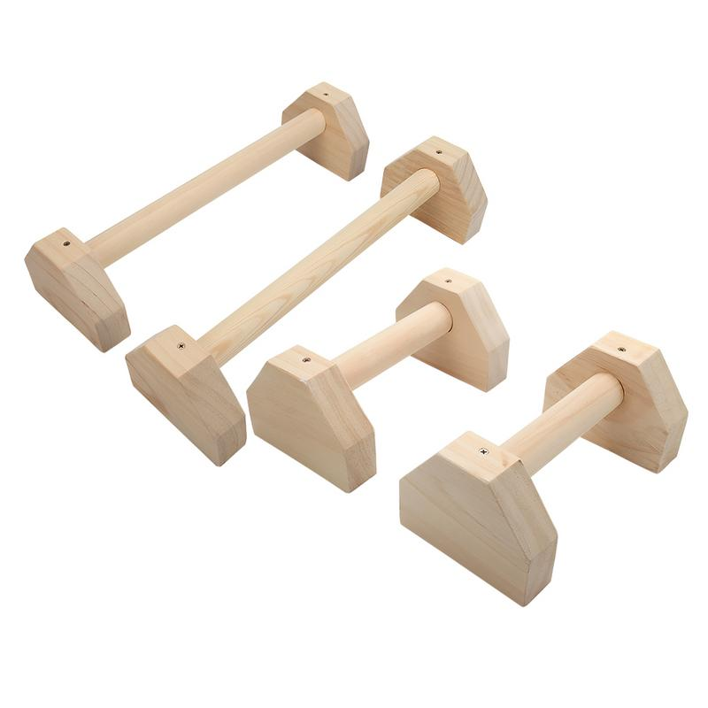 Push-up Bracket Wooden Stretch Stand Single Double Bars Calisthenics Handstand Personalised Bars Wooden Push-Ups Double Rod image