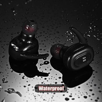 Mini Wireless Bluetooth Stereo Binaural In Ear Gym, Casual, etc Earphones IPXP Set With Charging 2.5 Hours Box