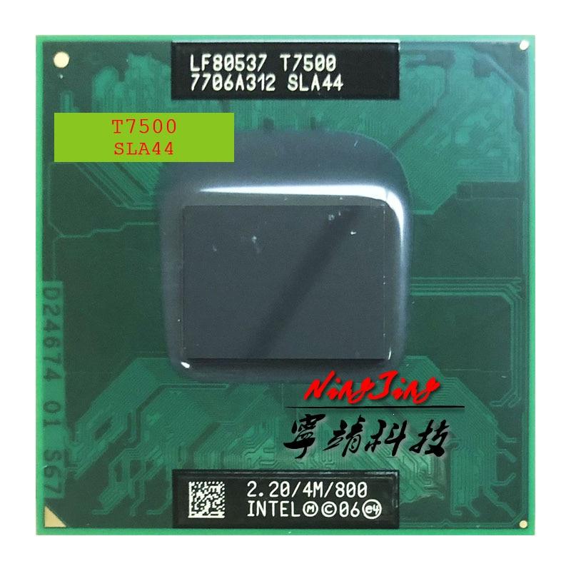 Процессор Intel Core 2 Duo T7500 SLA44 SLAF8 2,2 ГГц, двухъядерный процессор с двойной резьбой, 4 м, 35 Вт, Socket P