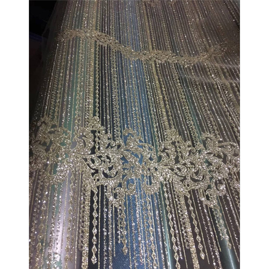Patrón de cortina de cuentas tan hermosas con lentejuelas de brillo completo tela de vestido de tul francés ZP0 3 tela de encaje-in encaje from Hogar y Mascotas    1