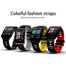 K10 Square Smart Watch Heart Rate Blood Pressure Monitoring Multiple Sports Mode IP68 Waterproof Bracelet