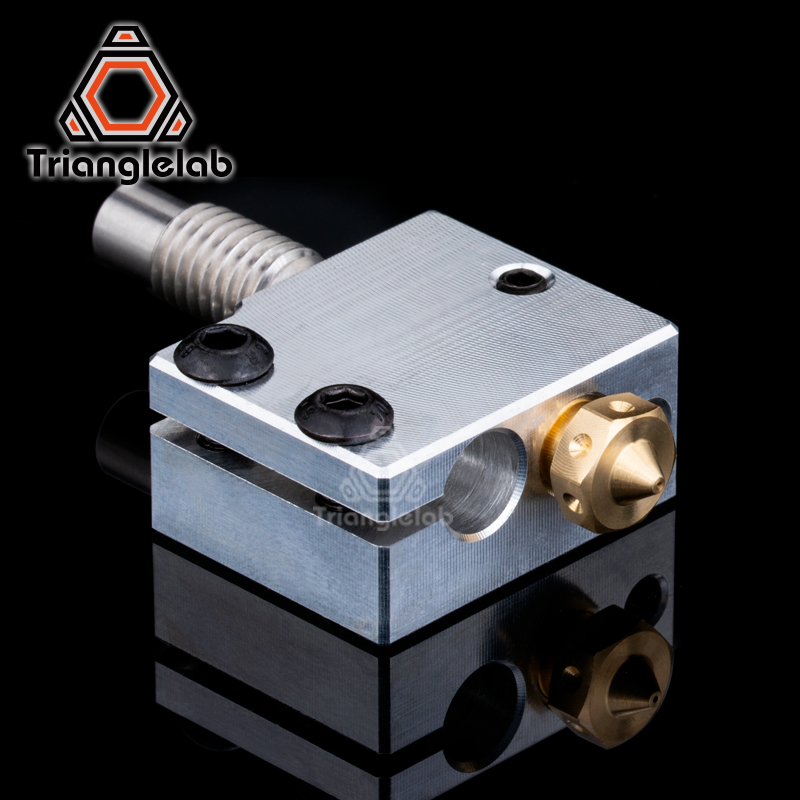 Trianglelab 3D Printer Volcano Heater Block + High quality Nozzle + heat breaker for 3D printer For E3D Hotend DIY 3D Printer