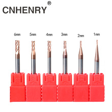 цены 6pcs CNC Cutter Milling Cutter HRC55 4 Flutes Solid Carbide Straight Shank For Metal Milling Cutter Wood Carving 1,2,3,4,5,6mm
