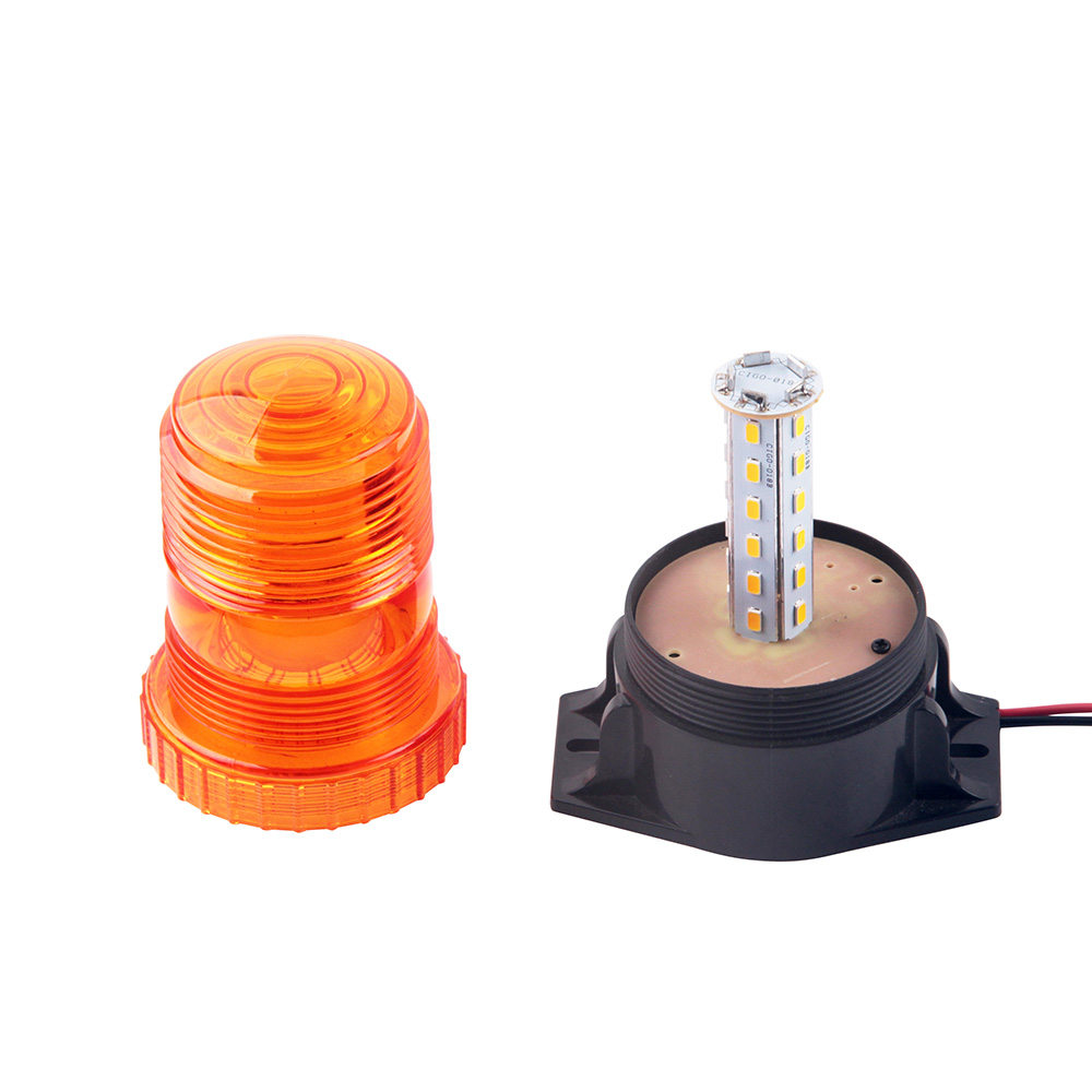 Купить с кэшбэком Bogrand Rotating Beacon Warning Light Flexible Led Flashing Beacon For Vehicle Amber Lighthouse Strobe 24v Warning Light Traffic