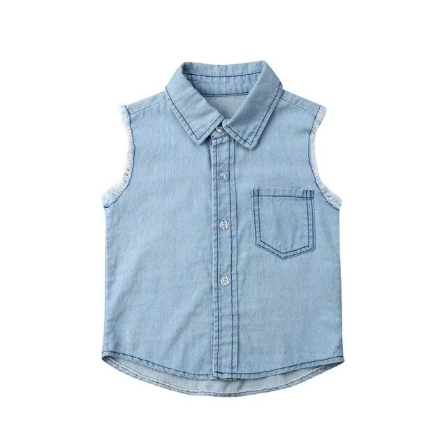 Arrivels החדש תינוק ילד ילדים פעוט ג 'ינס חולצות חולצות מעיל קאובוי מעיל הלבשה עליונה בגדי 2-7Years