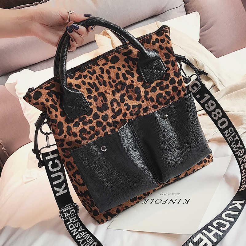 0fb8617322c302 ... Leopard Print Handbag Vintage PU Leather Ladies Luxury Handbags Women  Large Shoulder Messenger Bag Female Top ...